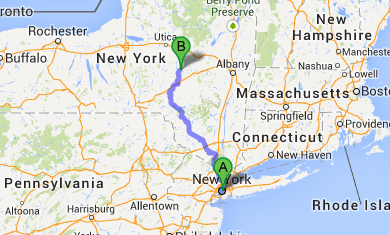 Map Directions To Our Top Rated Cooperstown NY Inn Landmark Inn - Upstate new york map