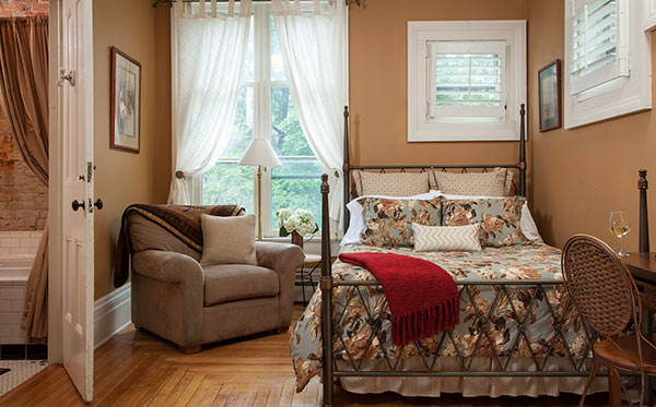Cooperstown NY Bed and Breakfast - Bedroom and Bath