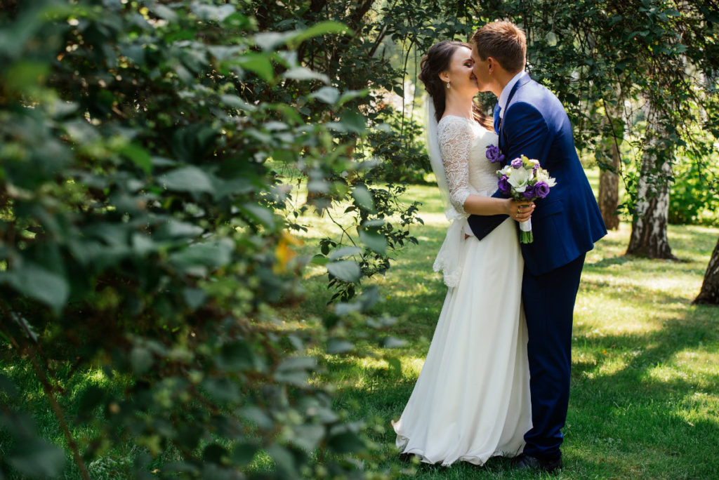 Upstate NY Elopements - Kissing bride and groom