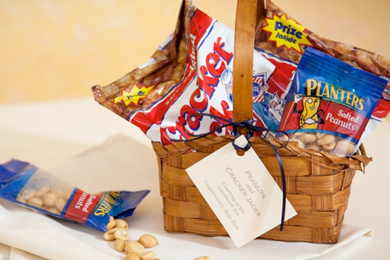 basket of peanuts and cracker jacks
