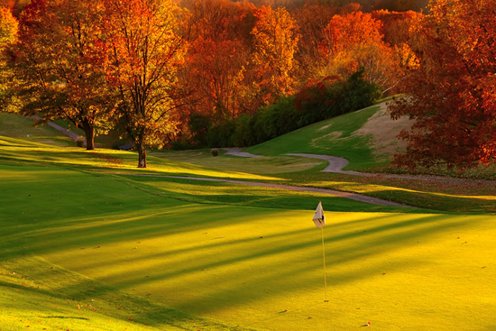 Golf course with fall colors