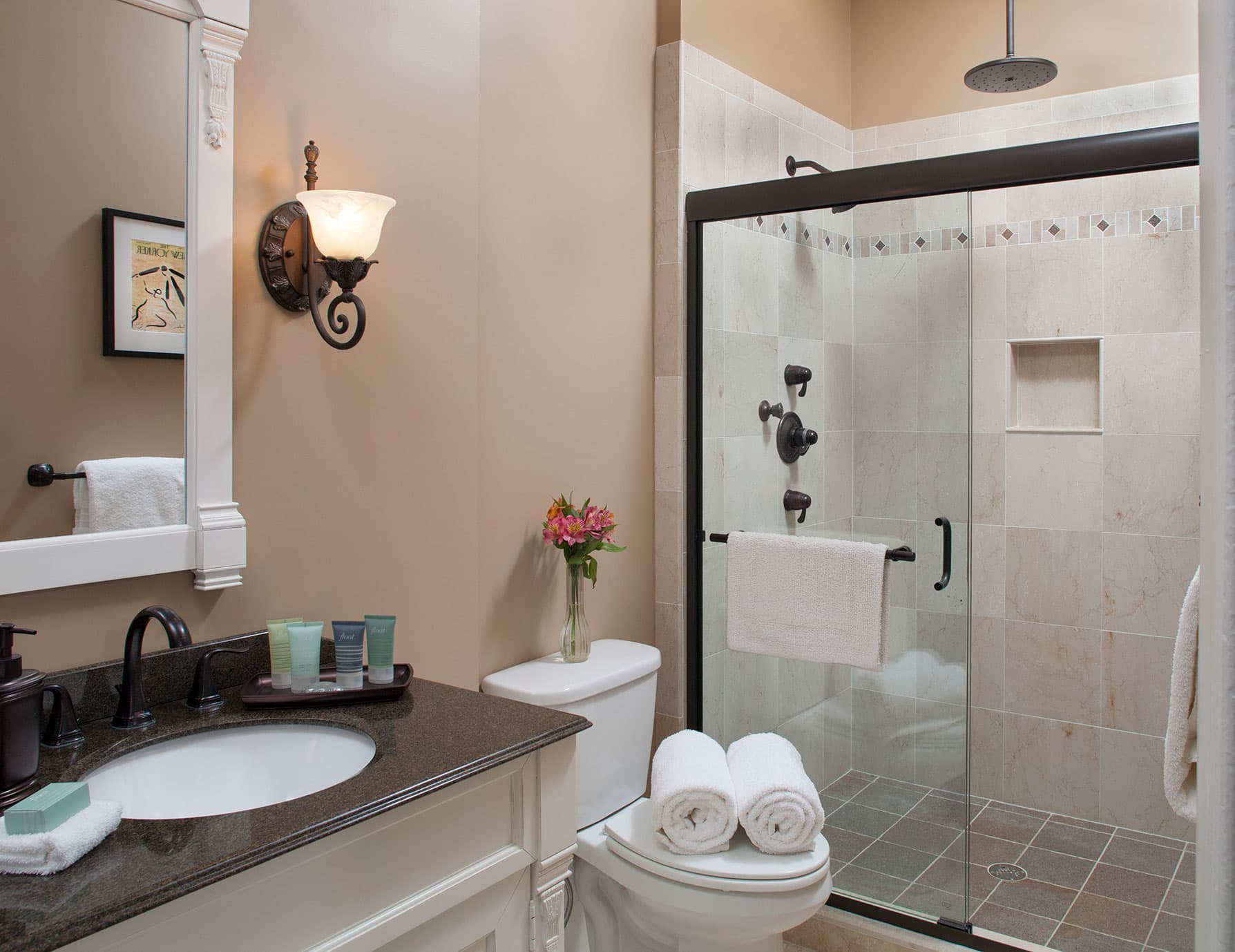 Immaculate bathroom with Dream Shower for Two