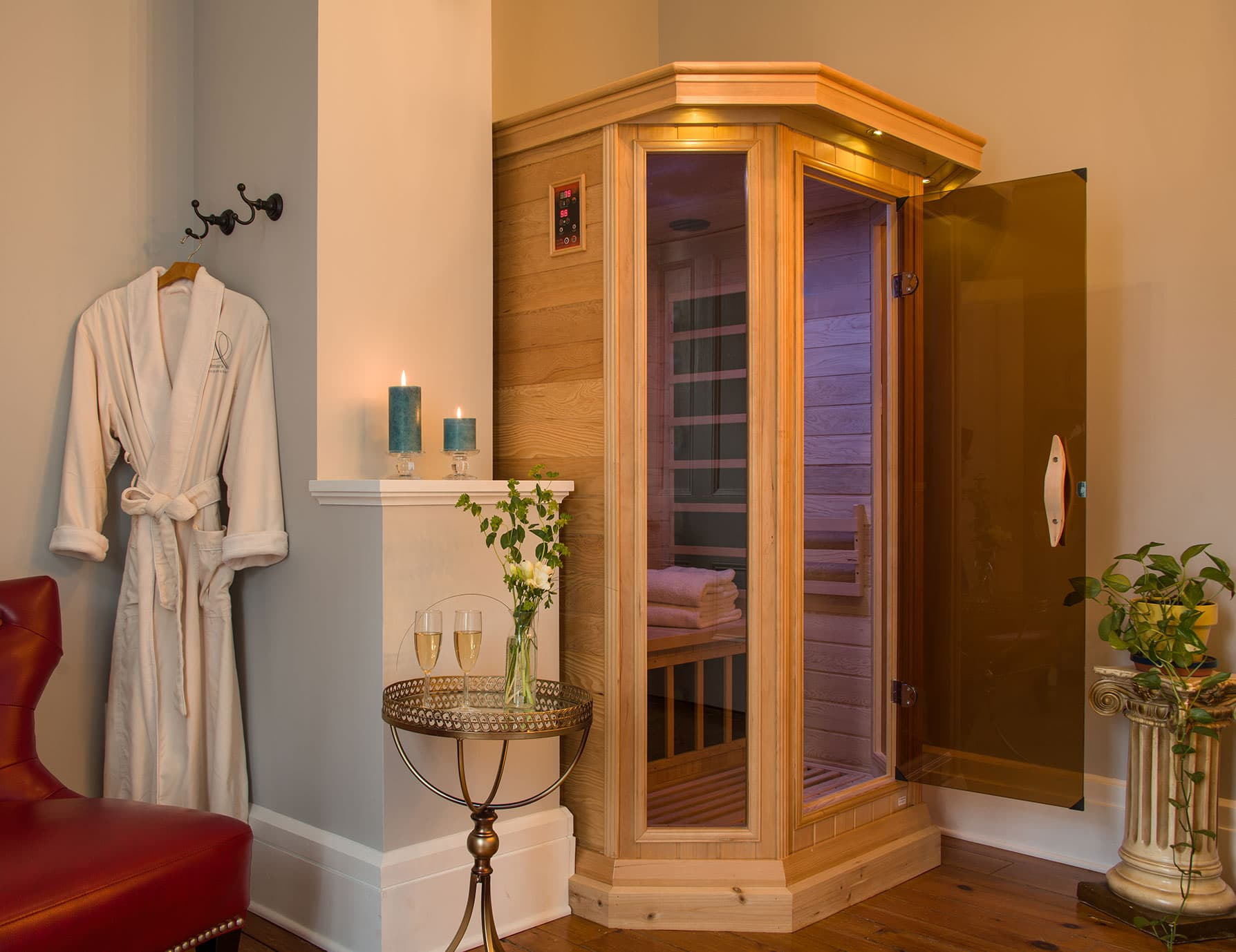 Sauna Room in the Summer's Suite - Top Place to Stay in Cooperstown