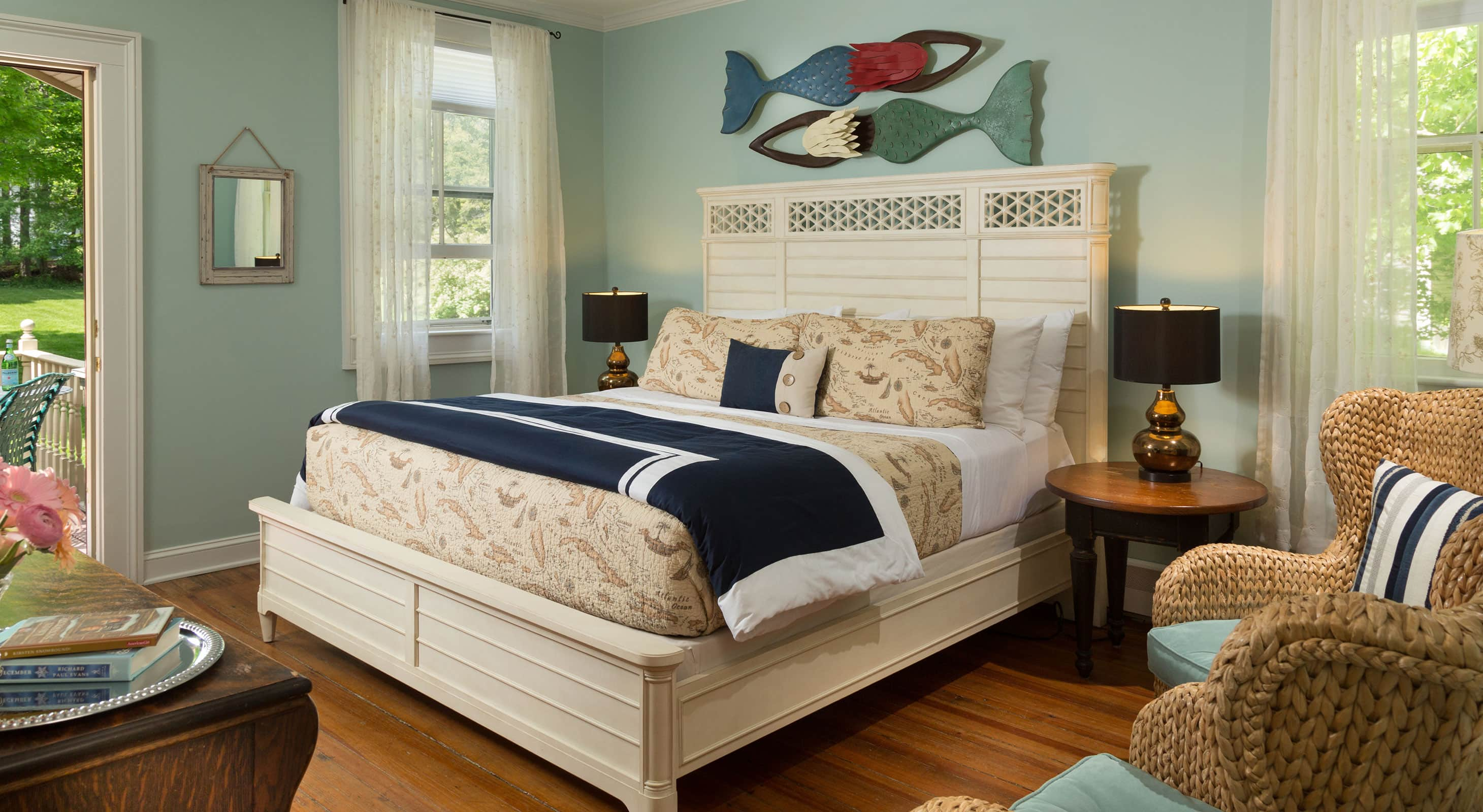 Comfortable bed in the Henry's Hideaway Room