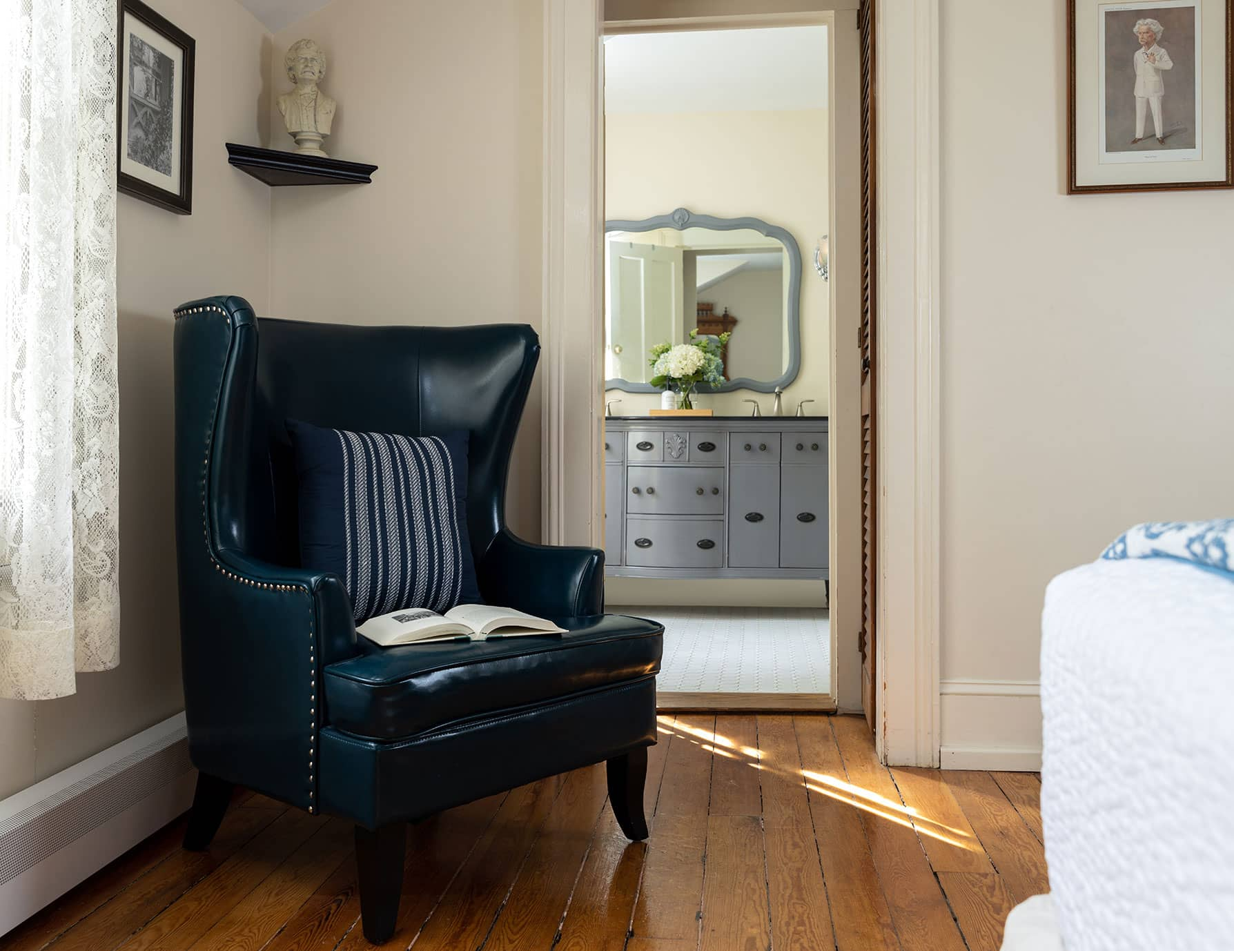 Chair and Room at a Cooperstown, New York B&B