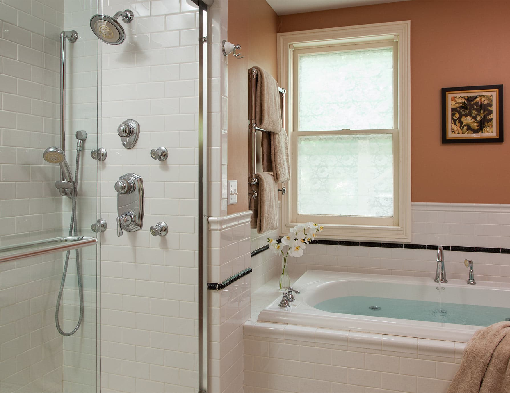 Dream Shower and Jetted Tub
