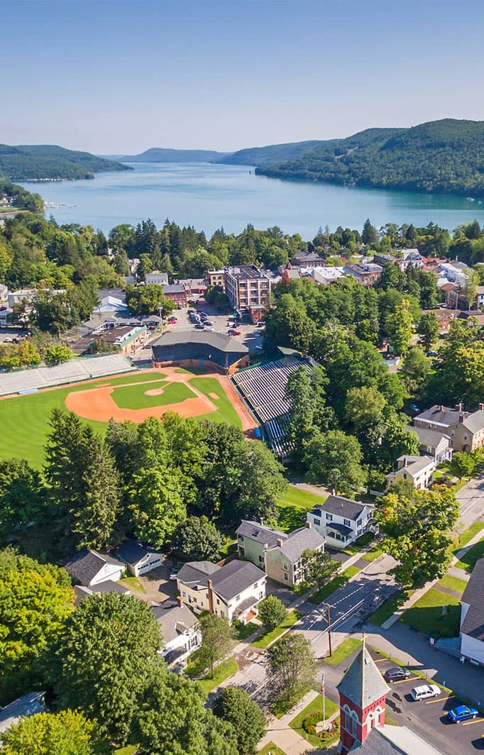 Aerial view of Cooperstown