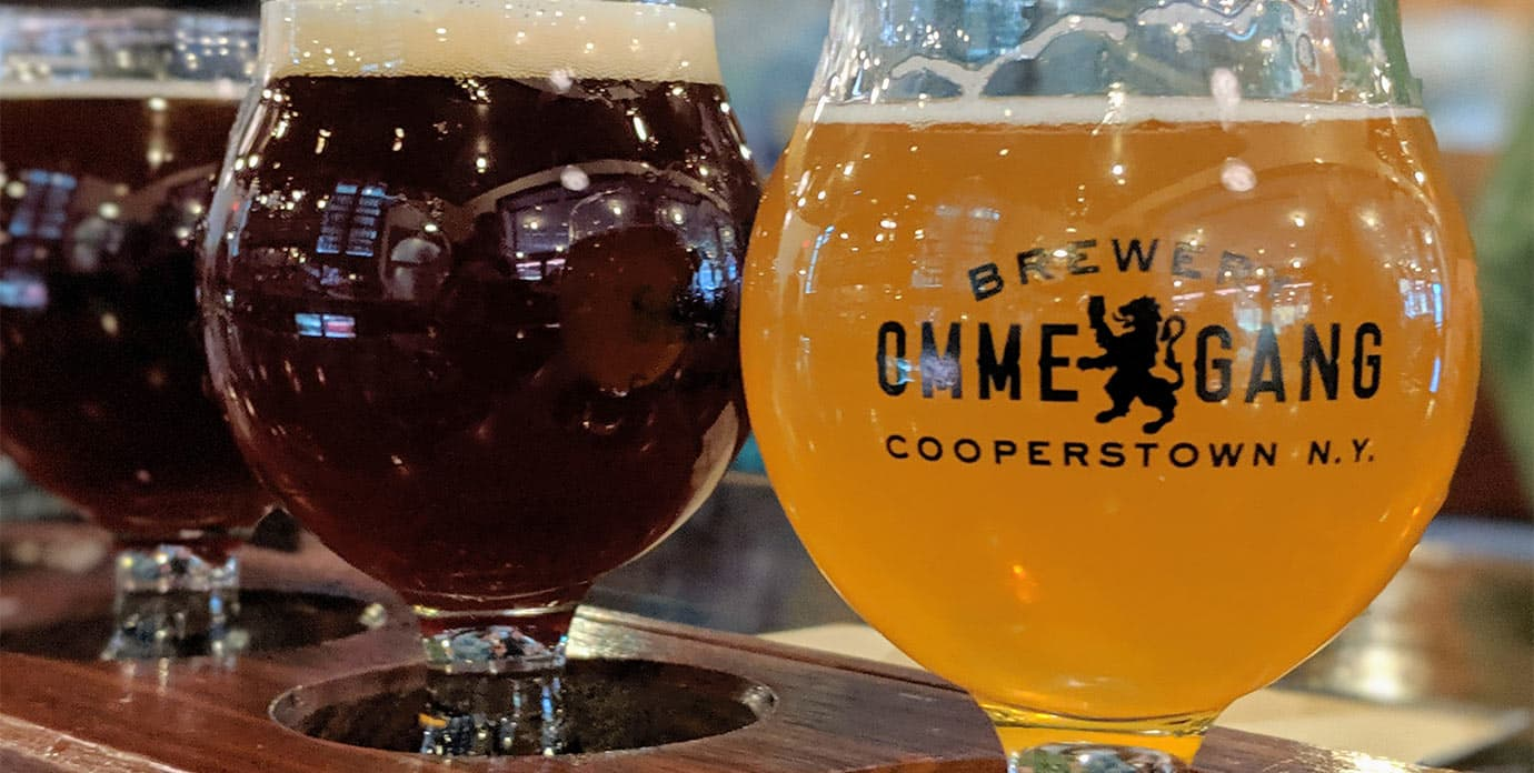 Flight of Beers at Ommegang Brewery