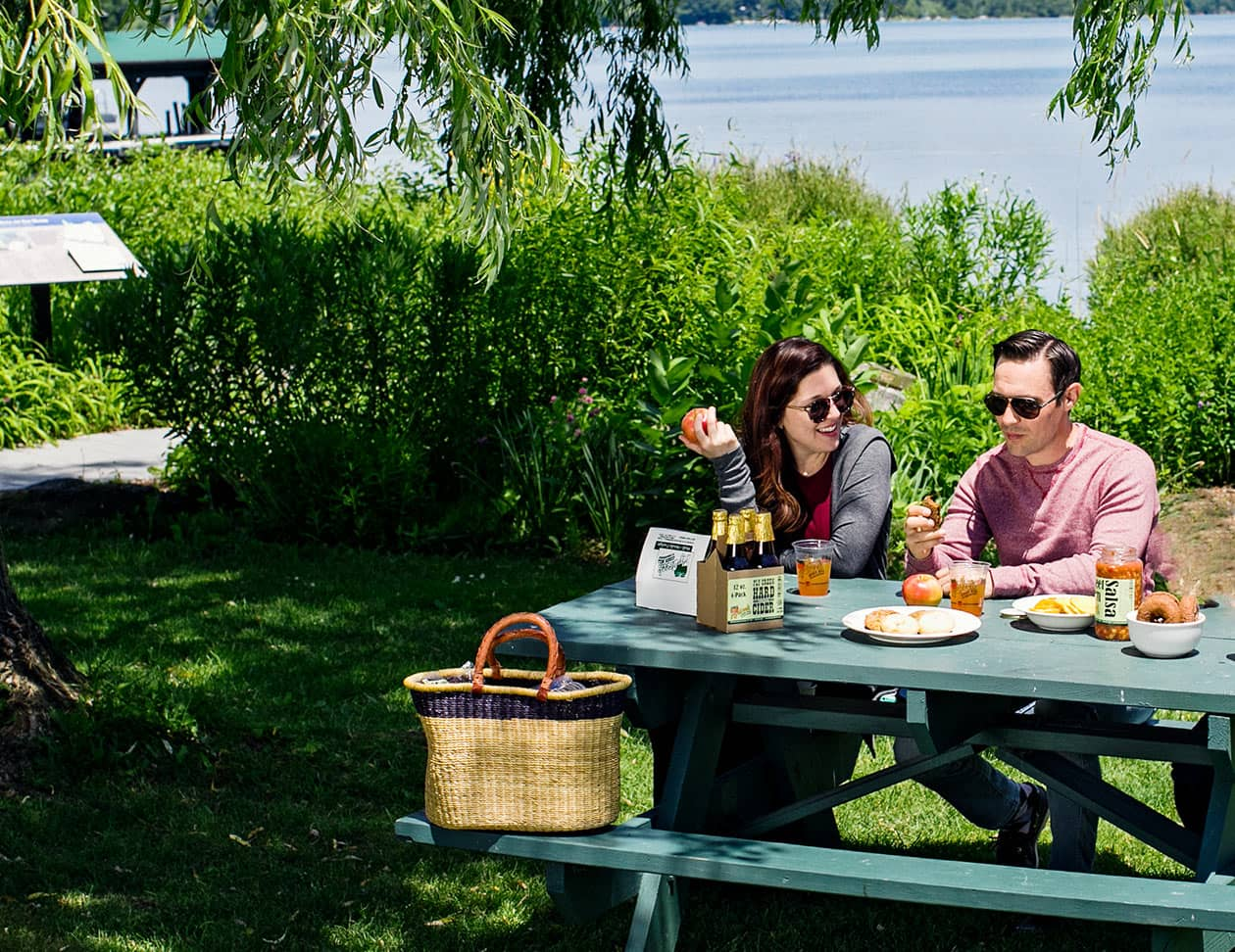 Picnic lunch for two in Cooperstown